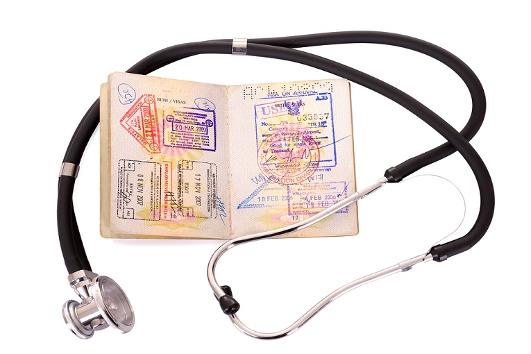 """passport with stethoscope"""