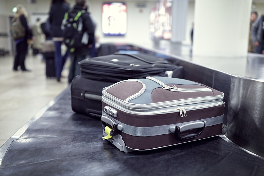 """suitcases on conveyor belt"""