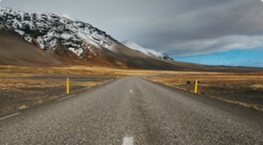 Open Road with Mountain