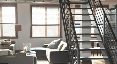 apartment with a staircase