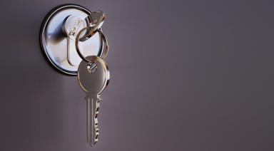 a key in the door lock