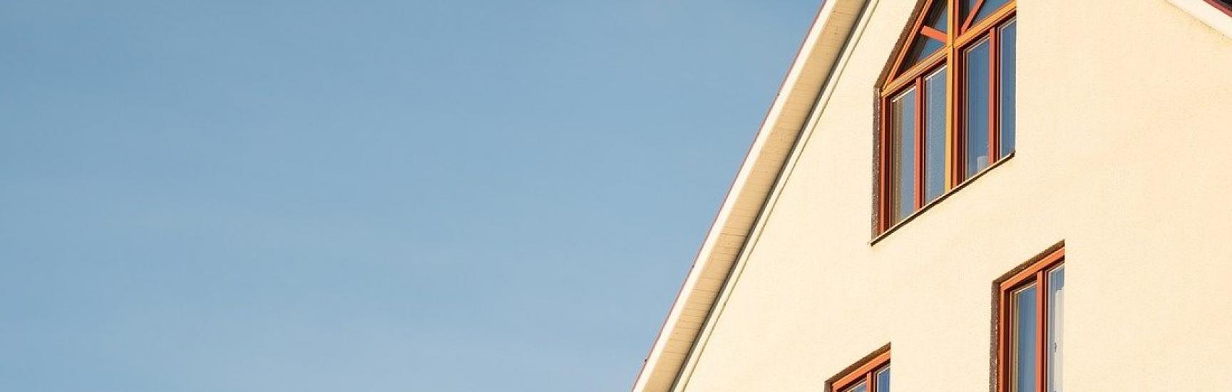 detached beige house